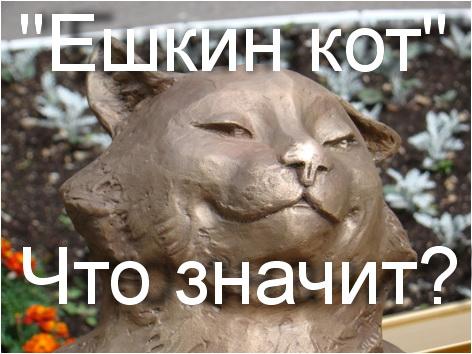 какой смысл выражения ешкин кот