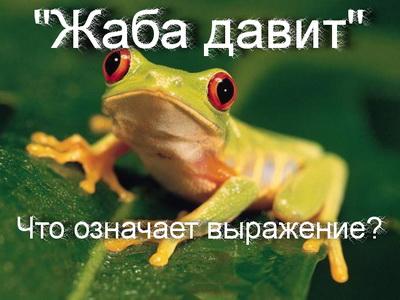 жаба давит что значит