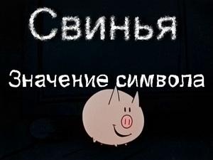 свинья значение символа
